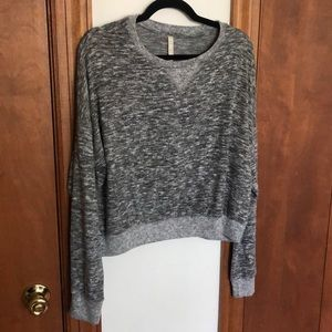 Aeropostale soft gray sweater top size medium